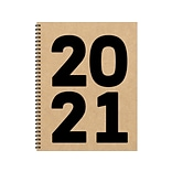 2021 TF Publishing 8.5 x 11 Planner, Kraft Year, Kraft/Black (21-9537)