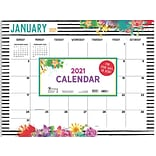 2021 TF Publishing 17 x 22 Desk Pad Calendar, Floral, Multicolor (21-8099)