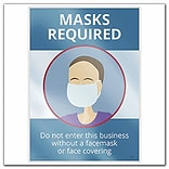 Deluxe Masks Required, Window Cling, 10 x 14 , 5/Pack (N0133)