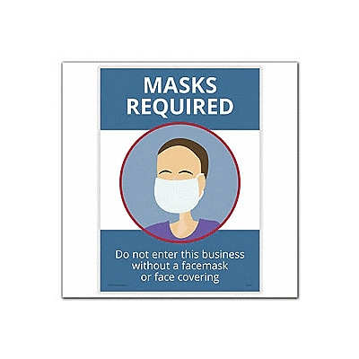 Deluxe Masks Required Poster, 10 x 14
