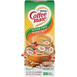 Coffee mate, Sugar Free, Hazelnut, Liquid Creamer, .375oz, 50/Box (NES98468)