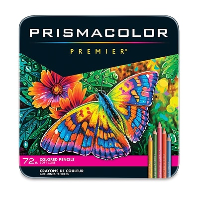 Prismacolor Premier Soft Core Colored Pencils, Assorted Colors, 72/Pack (3599TN)