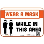 Wall Decal 6x9 Please Wear a Mask While In This Area