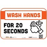 BeSafe Messaging Social Distancing Repositionable Wall Decal 6x9 Wash Hands for 20 Seconds 3/Pack