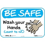 BeSafe Messaging Social Distancing Repositionable Wall Decal 6x9 Wash Your Hands Count to 20 3/Pac