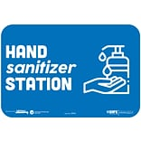 BeSafe Messaging Social Distancing Repositionable Wall Decal 6x9 Hand Sanitizer Station 3/Pack (29