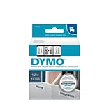 DYMO D1 Standard 45013 Label Maker Tape, 1/2W, Black On White