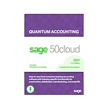 Sage 50cloud Quantum Accounting 2021 for 5 Users, Windows, Download (50CQTM521ESDCSRT)