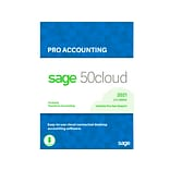 Sage 50cloud Pro Accounting 2021 for 1 User, Windows, Download (50CPRO21ESDCSRT)