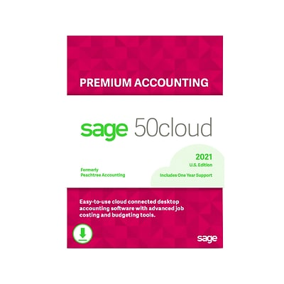 Sage 50cloud Premium Accounting 2021 for 1 User, Windows, Download (50CPPA121ESDCSRT)