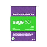 Sage 50 Quantum Accounting 2021 for 1 User, Windows, Download (PTQ12021ESDCSRT)