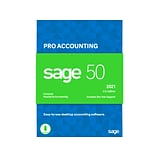 Sage 50 Pro Accounting 2021 for 1 User, Windows, Download (PRO2021ESDCSRT)