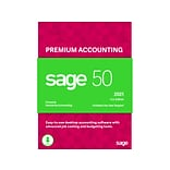 Sage 50 2021 Premium Accounting U.S. Edition for 1 User, Windows, Download (PPA12021ESDCSRT)