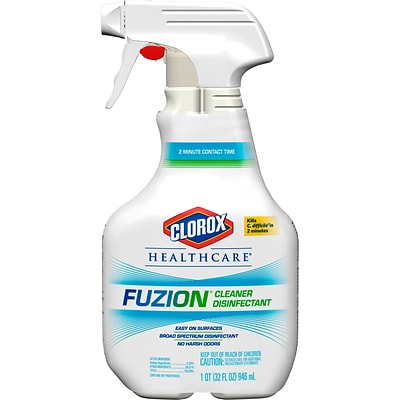 Clorox Healthcare Fuzion Cleaner Disinfectant, Spray, 32 oz (31478)