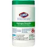 Clorox Healthcare Hydrogen Peroxide Cleaner Disinfectant Wipes, 155 Count Canister (30825)