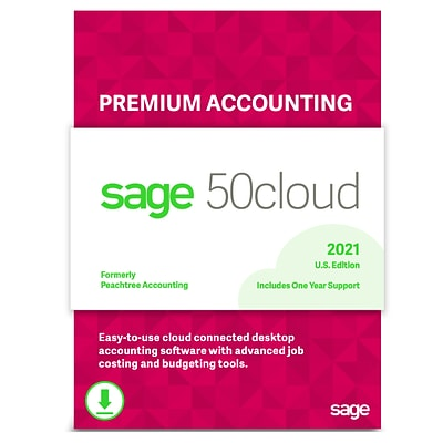 Sage 50cloud Premium Accounting 2021 for 2 Users, Windows, Download (50CPPA221ESDCSRT)