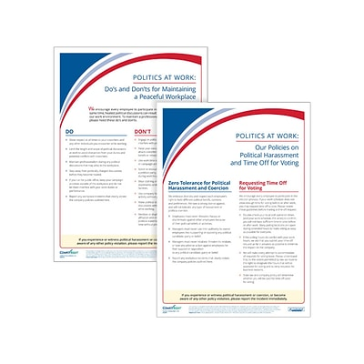 ComplyRight Political Activities Poster Set, 2/Pack (A2244)