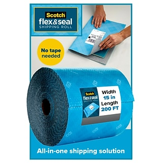 Scotch Flex & Seal Shipping Roll Self-Sealing Padded Mailer, 15 x 200, Blue (FS-15200)