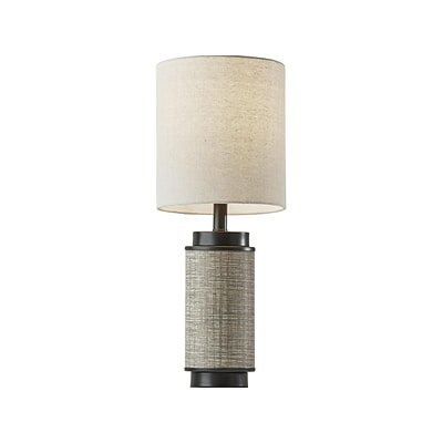 Adesso Marsha Incandescent Table Lamp, Black/Taupe (1501-01)