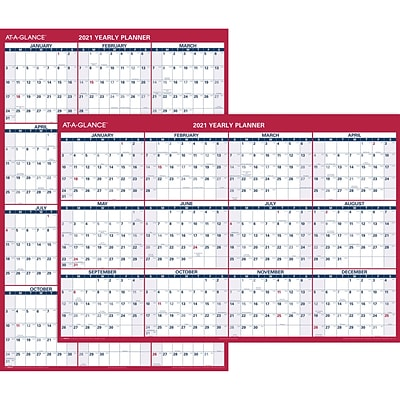 2021 AT-A-GLANCE 32 x 48 Wall Calendar, XL, Red/White (PM326-28-21)
