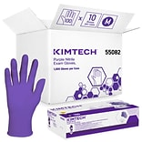 Kimberly-Clark Powder Free Purple Nitrile Gloves, Medium, 1000/Carton (55082)
