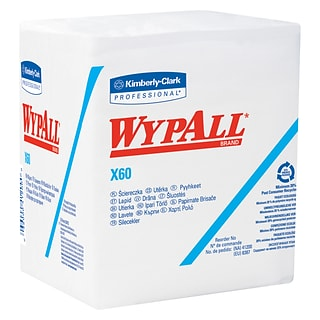Wypall® X60 Wipers, White, 912/Ct