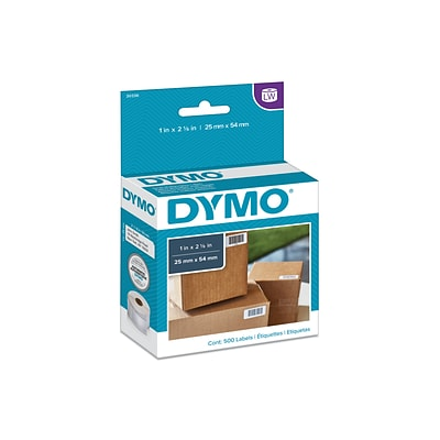 Dymo LabelWriter Multi-Purpose 30336 Label Printer Labels, 1W, Black On White, 500/Box