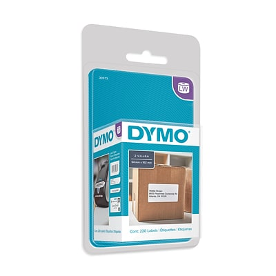 Dymo LabelWriter Shipping 30573 Label Printer Labels, 2.13W, Black On White, 220/Roll