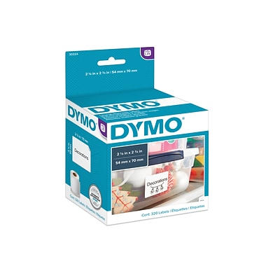 Dymo LabelWriter Large Multi-Purpose 30324 Label Printer Labels, 2.13W, Black On White, 320/Roll