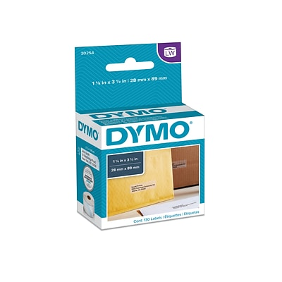 DYMO LabelWriter 30254 Label Printer Labels, 1.13W, Black On Clear, 130/Roll