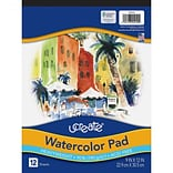 Pacon ucreate Watercolor Pad, 9W x 12H, 12 Sheets/Pad (P4910)