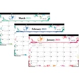 2021 Blue Sky 11 x 17 Desk Pad Calendar, Lindley Multi, Multicolor (117897-21)