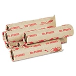 PM Company Preformed Tubular Cartridge Paper Penny Wrappers, Red, 1,000/Box (65029)