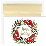 JAM PAPER Christmas Cards & Matching Envelopes Set, 7 6/7 x 5 5/8, Flip Flop Holiday, 18/Pack (526
