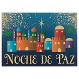 JAM PAPER Deluxe Spanish Christmas Cards & Matching Envelopes Set, Noche de Paz, 12 Cards/Pack (JAM3
