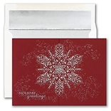 JAM PAPER Blank Christmas Cards & Matching Envelopes Set, Dazzling Snowflake, 25/Pack (526M1771WB)