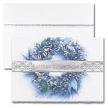 JAM PAPER Blank Christmas Cards & Matching Envelopes Set, Merry Christmas Wreath, 25/Pack (526M0214W