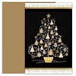 JAM PAPER Christmas Cards & Matching Envelopes Set, 7 6/7 x 5 5/8, Tree of Trees, 18/Pack (5269404
