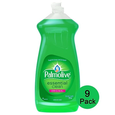 Palmolive Original Liquid Dish Soap, Essential Clean Scent, 25 fl. oz, 9/Pack (US06569ACT)