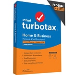 TurboTax Desktop Home & Business 2020 Fed + E-File & State for 1 User, Windows/Mac, CD/Download (608