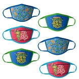 Teenage Mutant Ninja Turtle Reusable Kids Cloth Face Masks, Assorted, 6/Pack (HCBMP6847)
