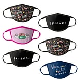 Friends Reusable Kids Cloth Face Masks, Assorted, 6/Pack (HCBMP8629)