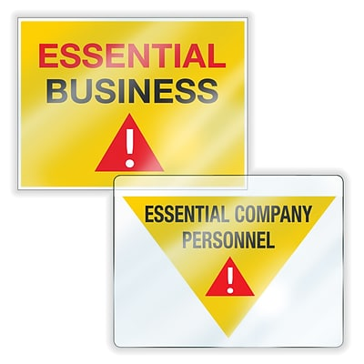 ComplyRight Essential Business Window Cling Signs, Yellow/Red/White, 6/Pack (N0190)