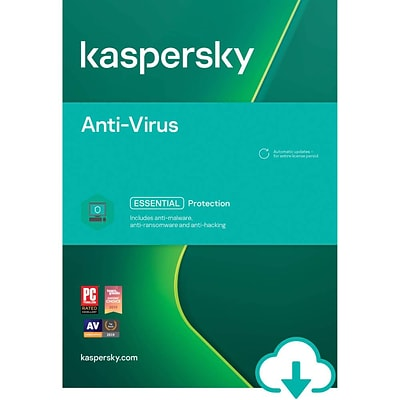Kaspersky Anti-Virus for 1 User, 1 Year, Windows, Download (KL1171ADAFS-USO)