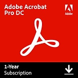 Adobe Acrobat Professional DC 1 Year for Windows/Mac (1 User) [Download]