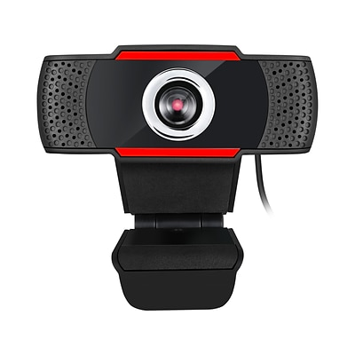 Adesso CyberTrack H3 Webcam - 1.3Megapixel - 30fps - Black, Red - USB 2.0