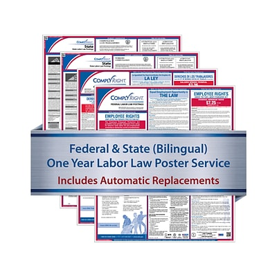 ComplyRight Federal and State Labor Law Poster Service, Maine, English/Spanish (U1200CBAME)
