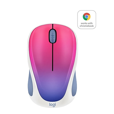 Logitech Design Collection 910-005840 Wireless Optical Mouse, Blue Blush