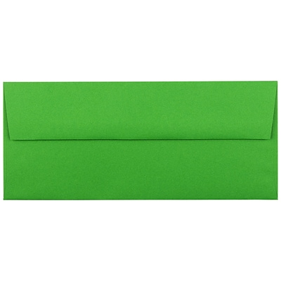 JAM Paper® #10 Business Colored Envelopes, 4.125 x 9.5, Green Recycled, 25/Pack (15862)