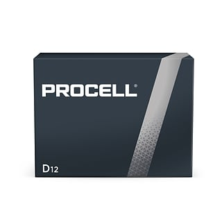 Procell Alkaline Battery, D, 12 Pack (PC1300)